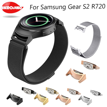 Milanese Loop Watch Band with Adapters for Samsung Gear S2 SM-R720 / SM-R730 Stainless Steel Strap Magnetic Buckle Belt Bracelet фото