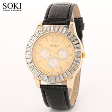 SOKI 2016 luxury Casual men's and women's watch watch of wrist of high-end brands diamond-encrusted fashion watch quartz watches