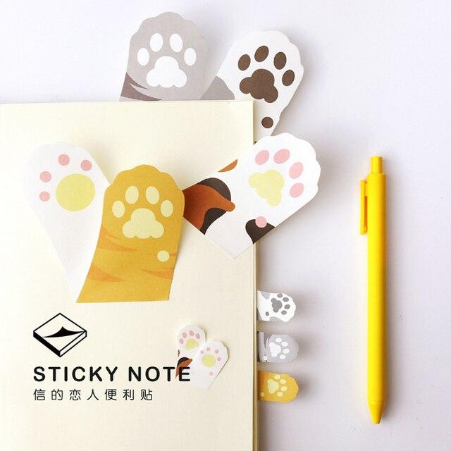 1 x desenhos animados do Diabo-Garra gato etiqueta de papel nota pegajosa almofada de memorando postá-lo kawaii papelaria escolar papeleria suprimentos