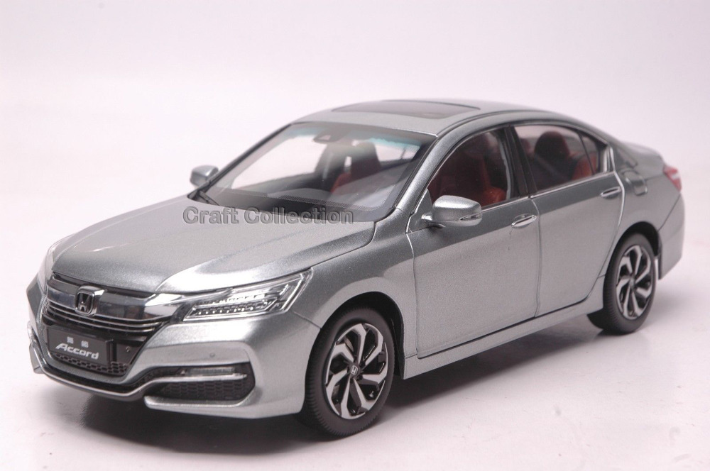 Silver 1 18 Honda Accord 2016 Diecast Model Car Alloy Toy Kids Auto Modell