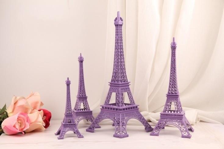 Wedding Table Centerpieces Purple Paris Eiffel Tower Model ...