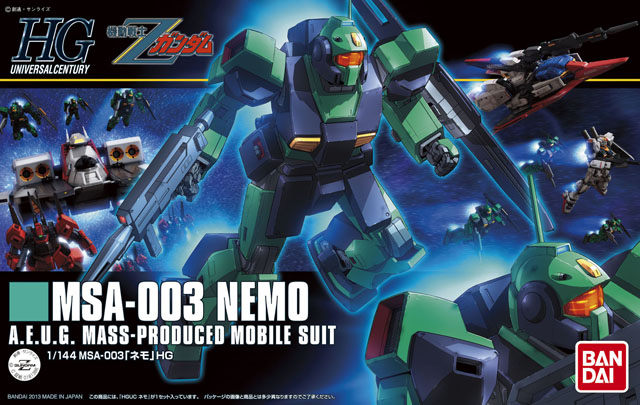 1PCS Bandai 1/144 HGUC 150 MSA-003 NEMO A.E.U.G./ Mobile Suit Assembly Model Kits lbx toys education toys брюки nike брюки m nk dry sqd pant kp