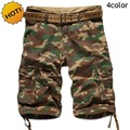 high Quality 2016 Summer HOT Mens Cotton Desert Camouflage Straight Baggy Tactical Military Army Cargo Shorts Men 4Color