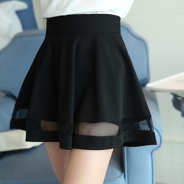Plus Tamaño Ahueca Hacia Fuera Las Mujeres Falda Elástico de Cintura Alta Falda Faldas Para Mujer de Saia Feminina Saia Longa Faldas Tutú de La Falda Corta Jupe