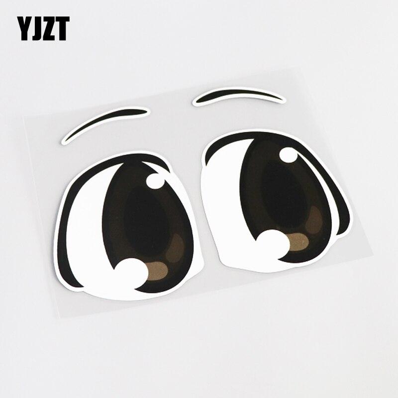 YJZT 16.6CM*12.5CM Cartoon Personality Eye Decal Car Sticker PVC Accessories 13-0430