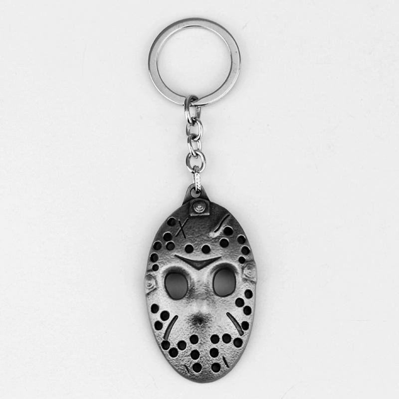 10pcs Hot Sale Friday the 13th Keychain White Jason Hockey Personal Mask Keyring Cosplay Black Friday Keychain AD Gift Jewelry