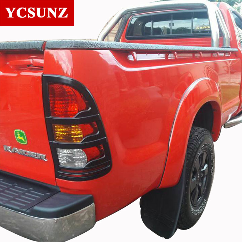 ABS Chrome Tail Lights Cover Strips Trim For Toyota Hilux Vigo 2005 - Auto Replacement Parts - Photo 2