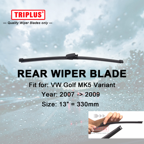 Rear Wiper Blade for VW Golf 5 Variant (2007-2009) 1pc 13 330mm,Car Rear Windscreen Wipers,for Back Windshield Blades