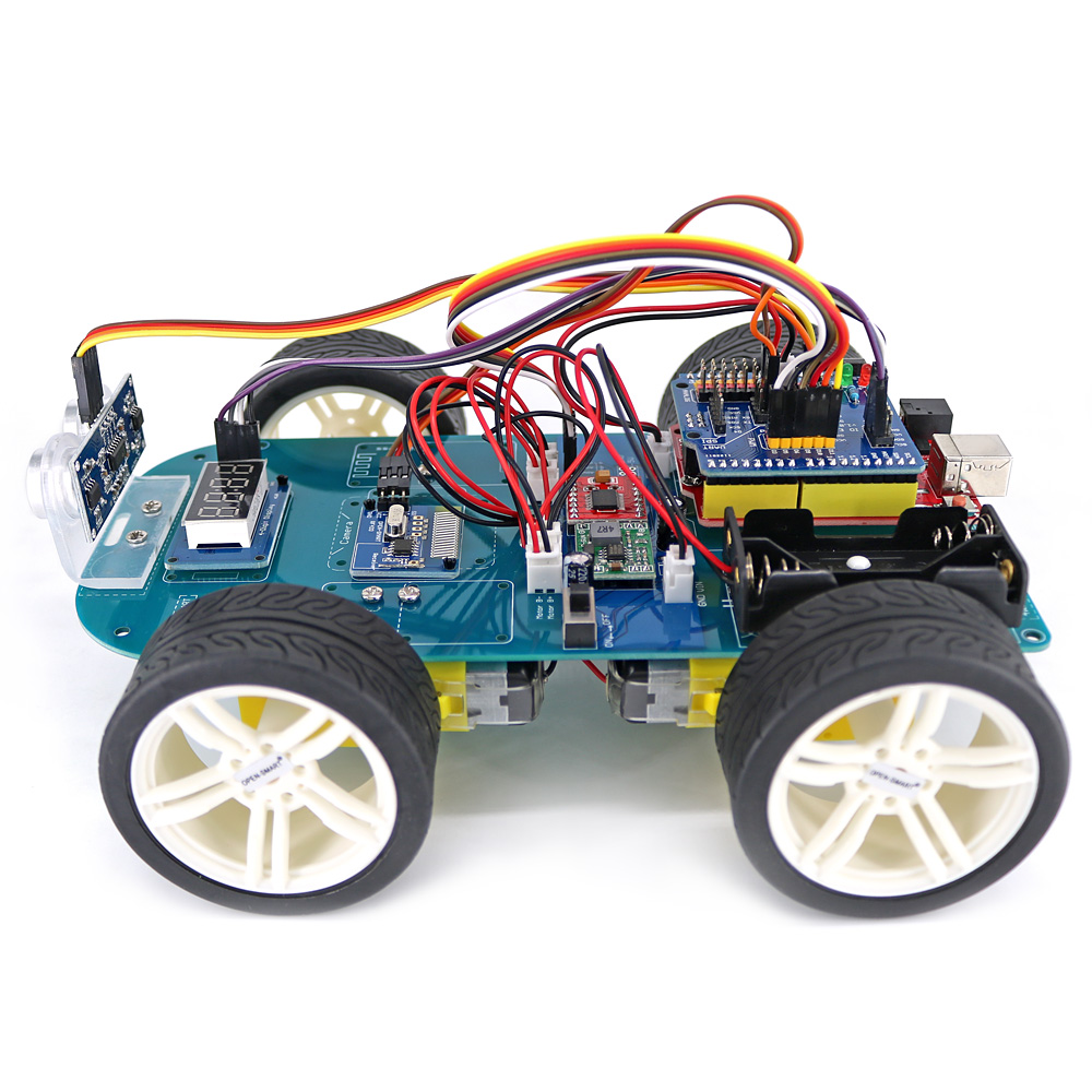Image 2 - 4WD Wireless JoyStick Remote Control Rubber Wheel Gear Motor Smart Car Kit w/ Tutorial for Arduino UNO R3 Nano Mega2560-in Industrial Computer & Accessories from Computer & Office