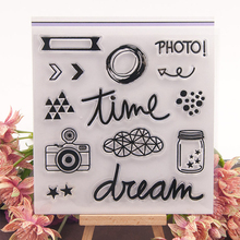 Dream Time Photo Camera Clear Stamps Scrapbooking DIY Silicone Seals Album Embossing Folder Paper Maker Template Crafts