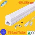 50 pçs/lote T5 LED Integrado tubo de luz 6 W 12 W Conduziu a lâmpada fluorescente 300mm 600mm AC220V levou tubos de 2 anos de garantia