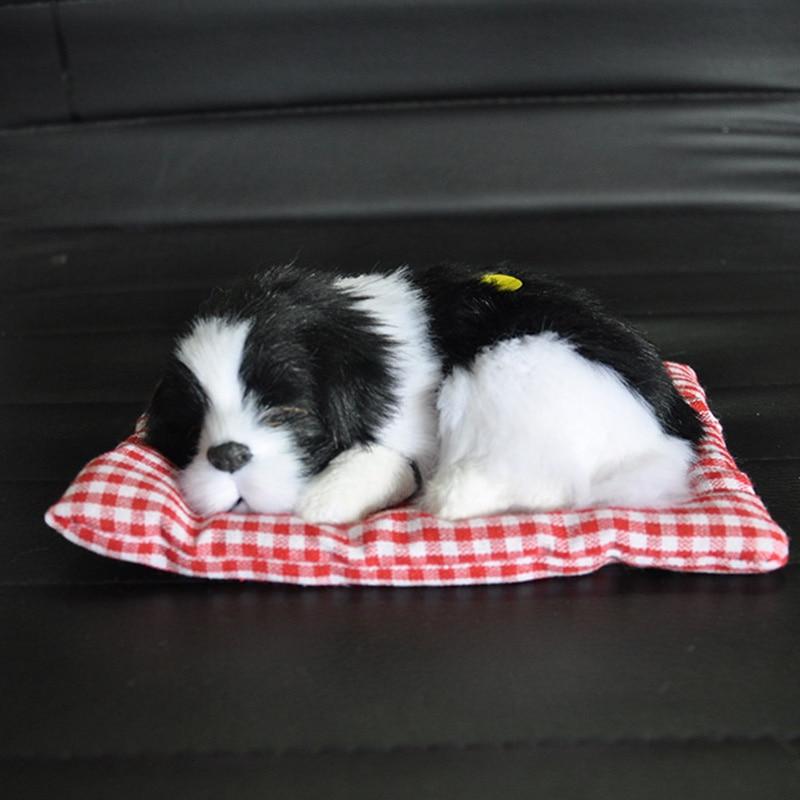 Car Dashboard Toys Car Ornaments Sleeping Dog Simulation Puppy Plush Car Doll Auto Decor Kids Gift Cute Car Accessories Interior