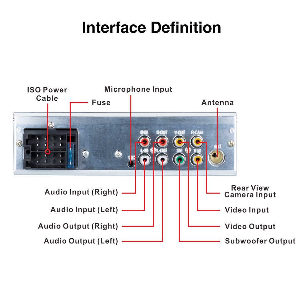 """Podofo Autoradio1 din カーラジオ 4.1 """"インチのタッチスクリーン車のステレオマルチメディア MP5 プレーヤー Bluetooth RDS サポート Micphone サブウーファー"""