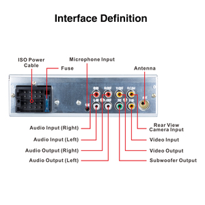 "Image 3 - Podofo autoradio 1 Din con pantalla táctil de 4,1 "", reproductor Multimedia MP5 estéreo, Bluetooth, RDS, Subwoofer, micrófono"