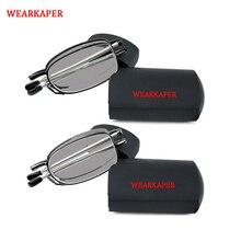 WEARKAPER מיני מעבר שמש Photochromic לקרוא משקפיים באיכות מתקפל קורא מתקפל קריאת משקפיים נשים גברים עם Case1 3.5