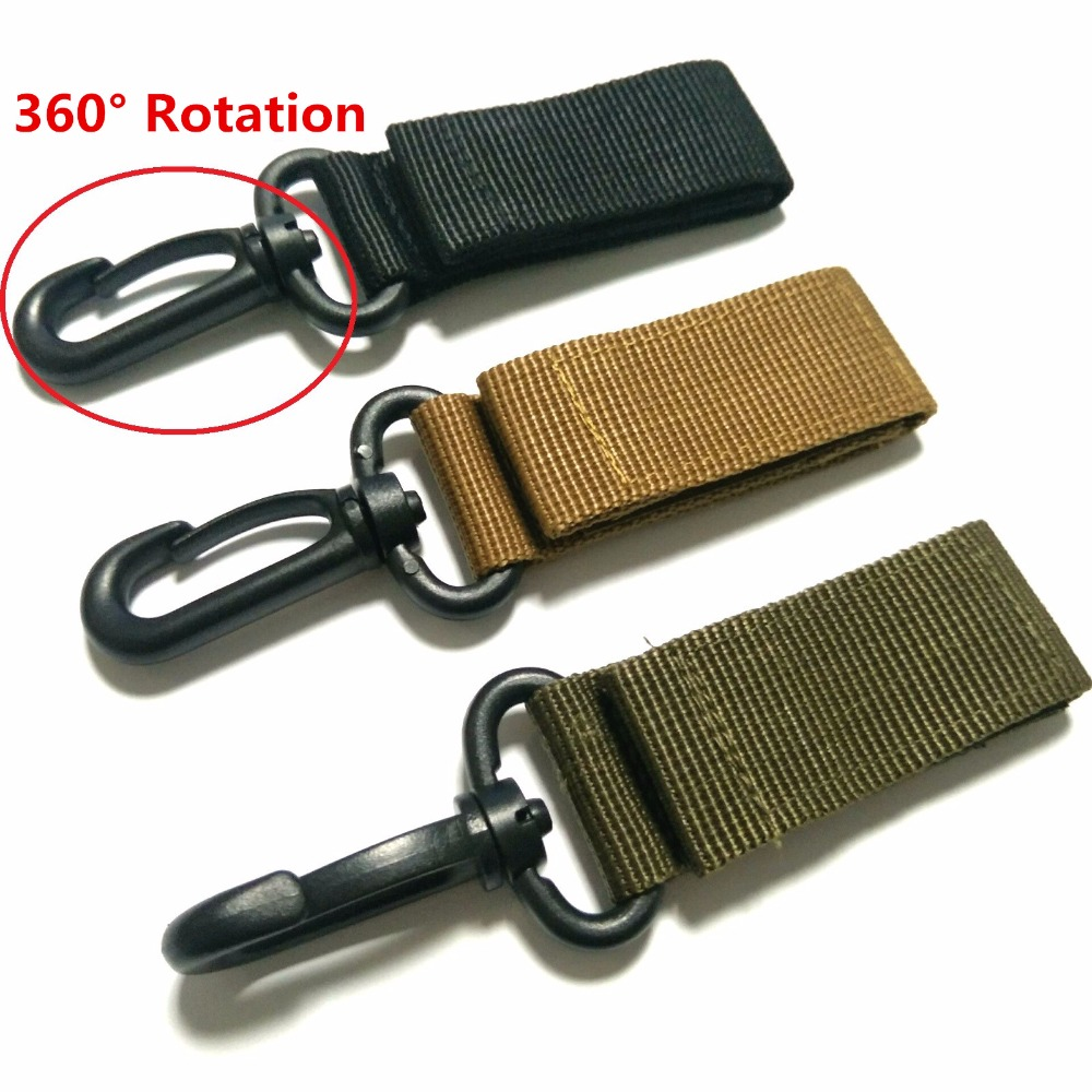 1PC EDC Multi-tool Tactics Nylon Ribbon Hang Buckle Accessories Army Fans Keychain Key Chain Hook Belt Fast Hooks Quick Catch