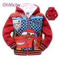 2016 New Baby Boy Winter Clothing Set for Girl Toddlers Hooded Pullover Winter Jacket Boys PIXAR CAR Clothes Hoodies Boy