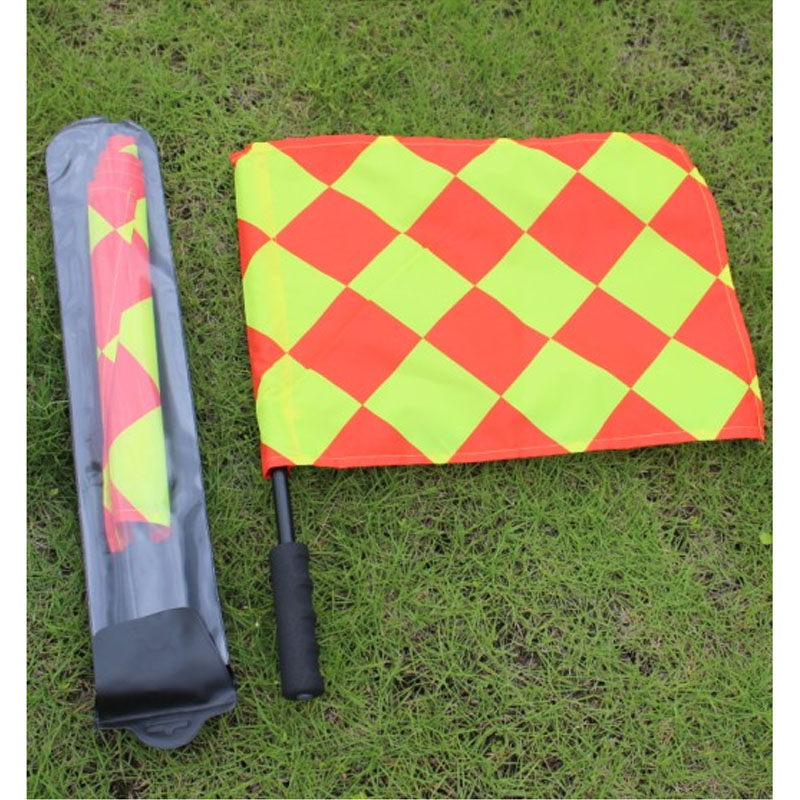 Gojoy 1 pair Fair Play Soccer referee flag set The World cup Sports match Football Linesman flags referee equipment
