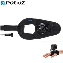 PULUZ For Go Pro Accessories 360 Degree Rotation Mount holder Wrist Hand Strap Band for GoPro HERO5 HERO4 Session HERO5 4 XiaoYi