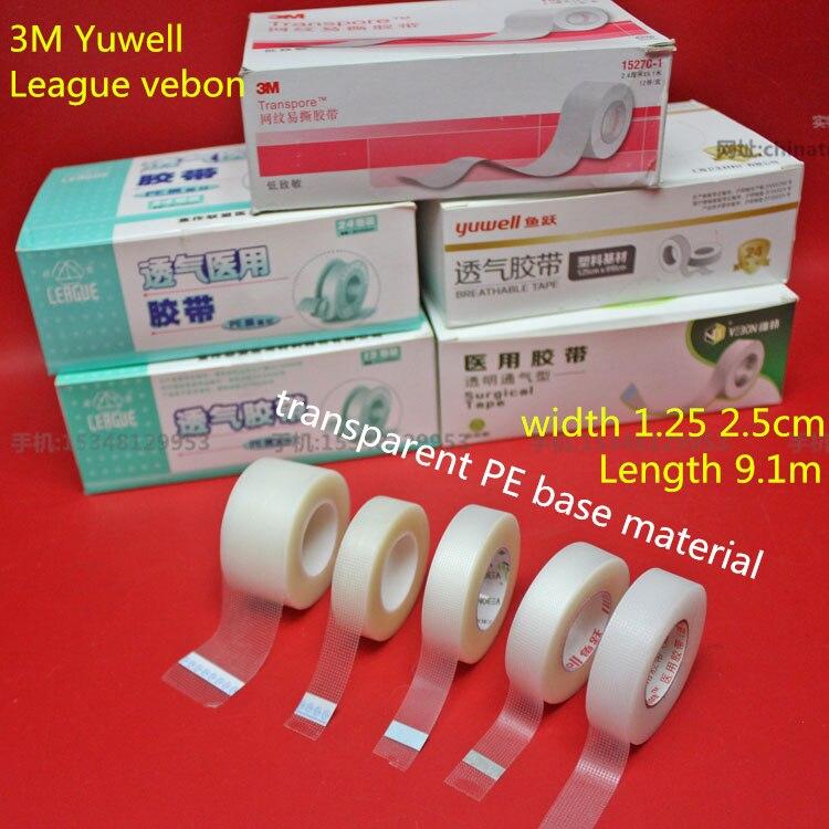 medical  PE plastic transparent fabric adhesive tape infusion tear tape Women Breathable False Double-fold eyelids makeup Tool