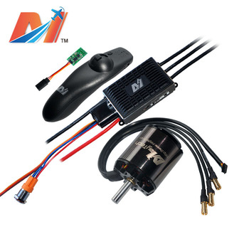 Maytech dc electric engine 5065 220kv and super esc based on vesc and remote control for diy electric skateboard