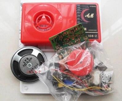 New 7 Tube AM Radio Electronic DIY Kit Electronic Learning Kit Set HX108-2New 7 Tube AM Radio Electronic DIY Kit Electronic Learning Kit Set HX108-2