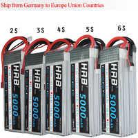 HRB RC Lipo Batterie 2 S 3 S 4 S 5 S 6 S 7,4 V 11,1 V 14,8 V 18,5 V 22,2 V 5000 mAh 50C 100C für FPV 450 500 AKKU Drone