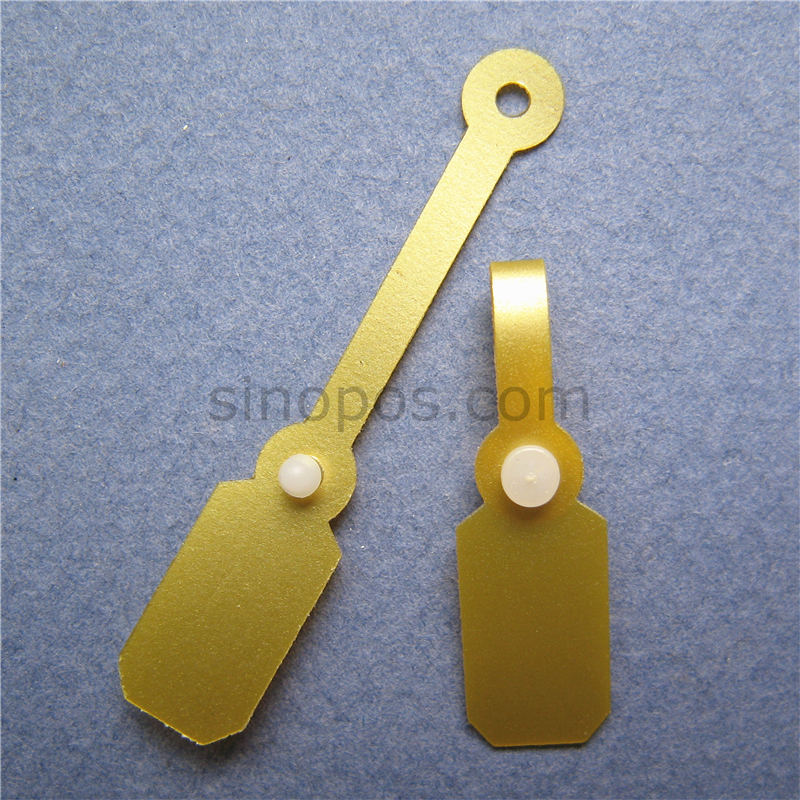 Gold Jewelries Price Tag Golden Pvc Button Snap Clip Gift