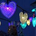 20 LEDs Heart-shaped Lâmpada Decoração Luzes Da Corda Solares para Jardins de Natal