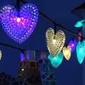 20LEDs Heart-shaped Bulb Solar Decoration String Lights for Gardens Christmas