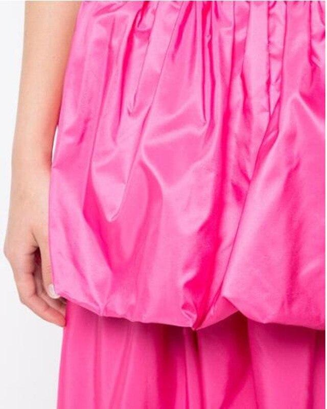 Longueur Nouveau De Haute Plissée Dames Quelle Cheville N'importe Red Personnalisé Couleur Qualité Satin Libre Rose Jupe Gracieux Femmes Mode 2019 Style x0wdPIFI