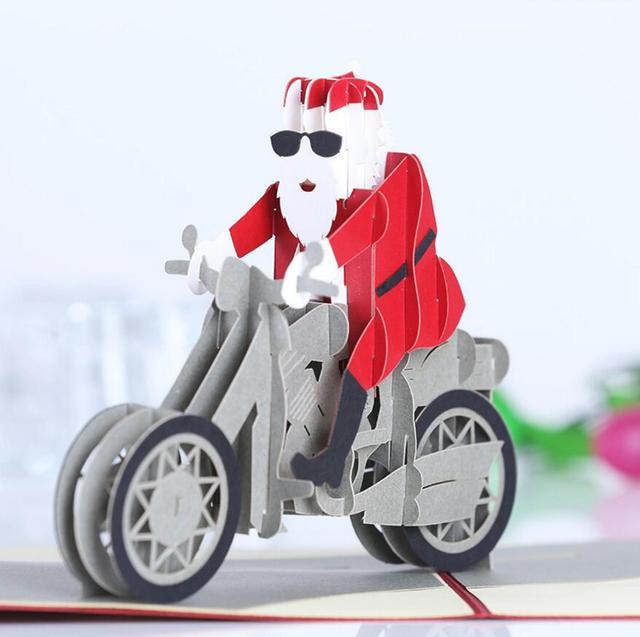 Aliexpress.com : Buy 10pcs Santa Motorcycle Kirigami Origami 3D ...