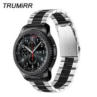 TRUMiRR Unique Stainless Steel Watchband + Link Remover for Samsung Gear S3 Galaxy Watch 46mm Wrist Band Sports Strap Wristband