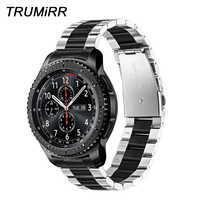 สายรัดข้อมือ trumirr ที่ไม่ซ้ำกันสายรัดข้อมือสแตนเลส + Link Remover สำหรับ Samsung เกียร์ S3 Galaxy นาฬิกา 46 มิลลิเมตรสายรัดข้อมือสายคล้องคอกีฬาสายรัดข้อมือ