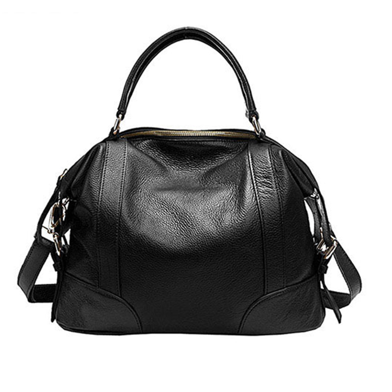 Pasta 2 tamaños bolsos de mano a la moda para mujeres nuevos bolsos clásicos de ocio bolsos de hombro de cuero de vaca genuino de mujer bolsa femenina-in Cubos from Maletas y bolsas    2