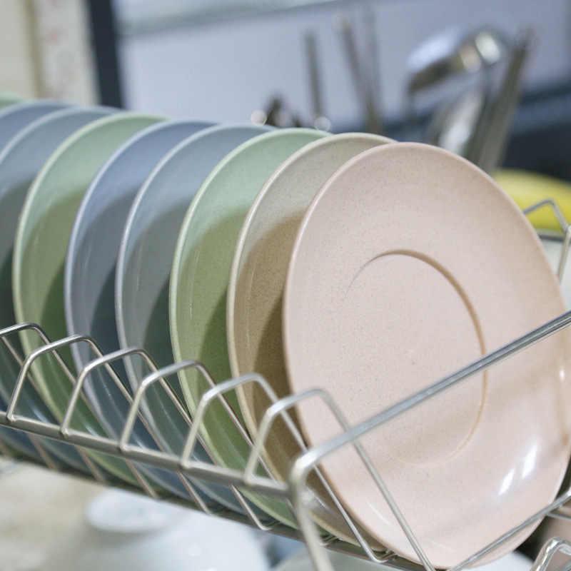 100% Пшеничная солома креативный стейк обеденная тарелка детский пищевой контейнер набор столовых приборов лоток быстрого питания Рождественский подарок 4 шт./компл.