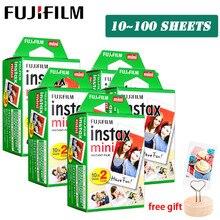 Белая пленка Fujifilm Instax Mini 9 3 дюйма 10 20 30 40 50 60 100 листов для камеры моментальной печати Polaroid FUJI Mini 9 8 7s 70 90