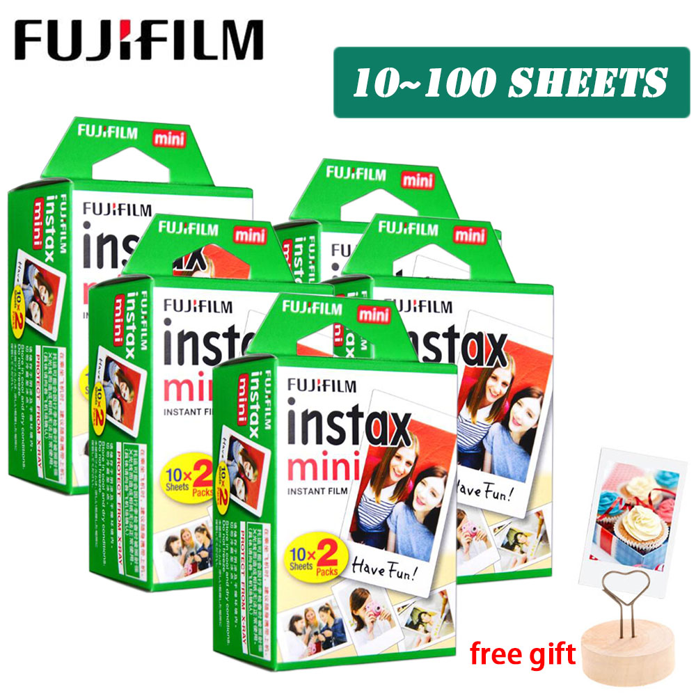 Fujifilm Instax Mini 9 Film White 3 Inch 10 20 30 40 50 60 100 Sheets for Polaroid FUJI Instant Photo Camera Mini 9 8 7s 70 90 image