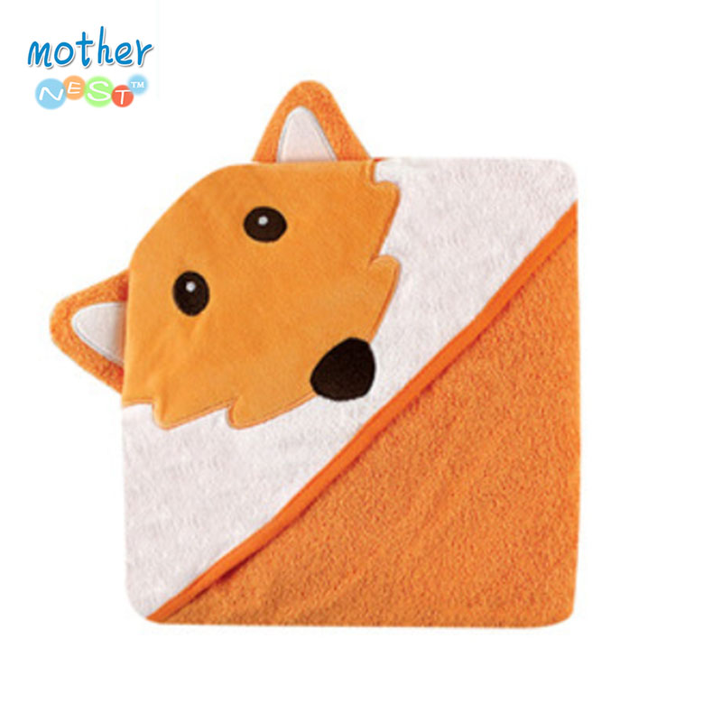 Luvable Friends Cute Animal Shape Baby Hooded Bathrobe Bath Towel Baby <font><b>Blankets</b></font> Neonatal Hold To Be Kids Infant Bathing