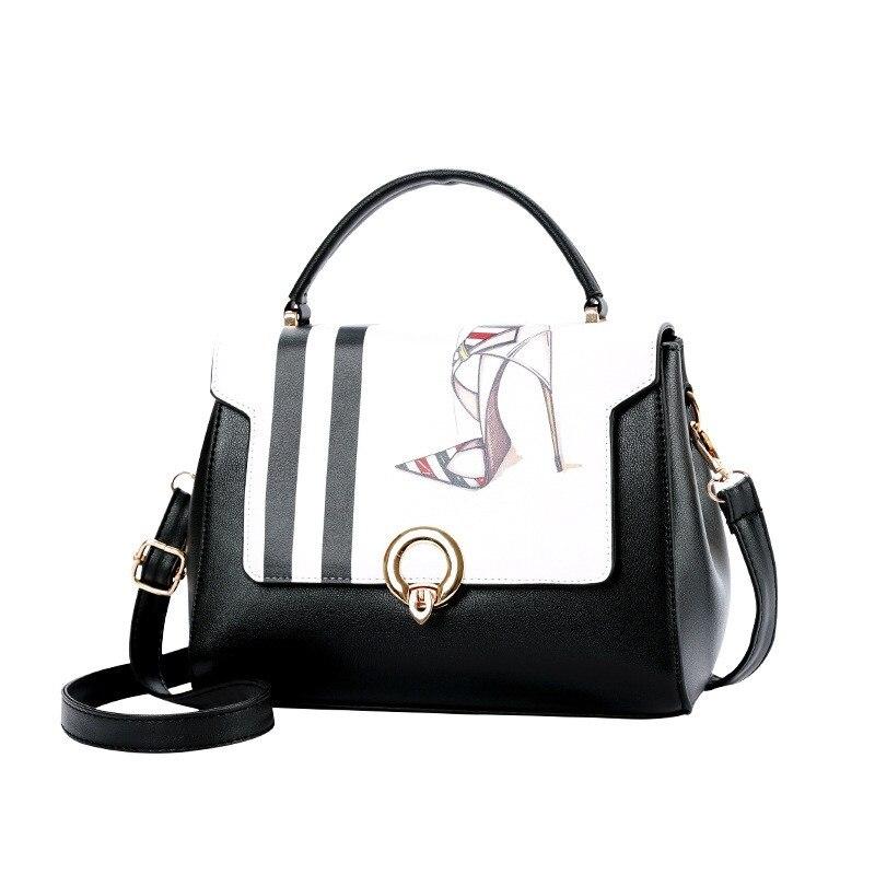 2018 New Printed High-heeled Shoes Handbags Trendy Fashion Shoulder Bag Woman High Quali ...