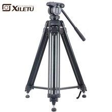 Xiletu XA193M Aluminum Professional Tripod for camera stand / DSLR video tripods / Fluid Head Damping