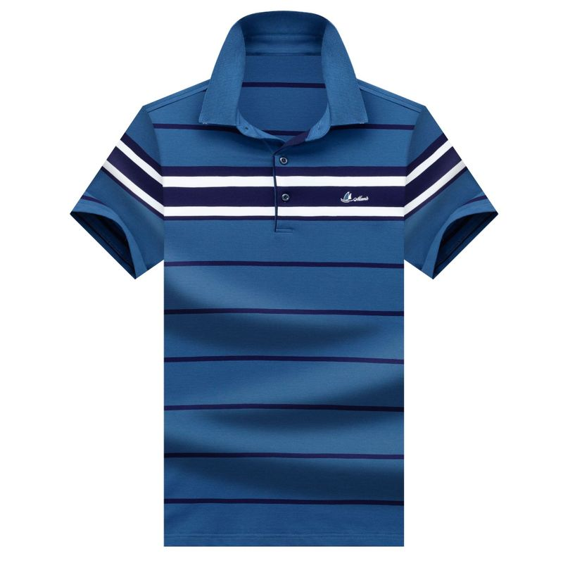 Brand Clothing Men Polo Shirt Luxury Embroidery  Men Business Casual Striped Male Polo Shirt Short Sleeve High Quality