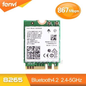 Fenvi banda Dual a 867 Mbps Wireless Wifi tarjeta para Intel 8265NGW 802.11ac Bluetooth 4,2 8265 NGFF tarjeta de red Wlan 2,4g/5g