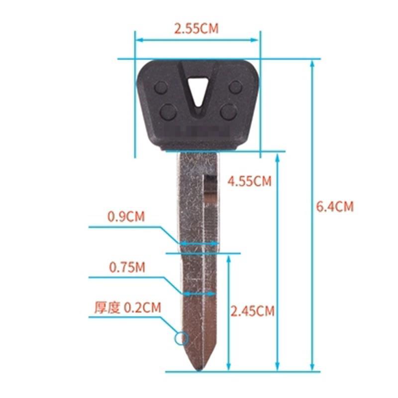 Motorcycle Keys Blank Key Uncut Blade For Yamaha FZ250 FZR400 YZF600 YZF1000 FZ400 FZ600 FZ800 FZ10 XJR400 FZ400 XJR FZ 250 400