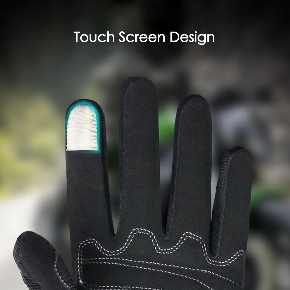 Summer Full Finger Motorcycle Riding Gloves Universal Unisex Mesh Breathable Safe Touch Screen Cycling Gloves in Gloves from Automobiles Motorcycles