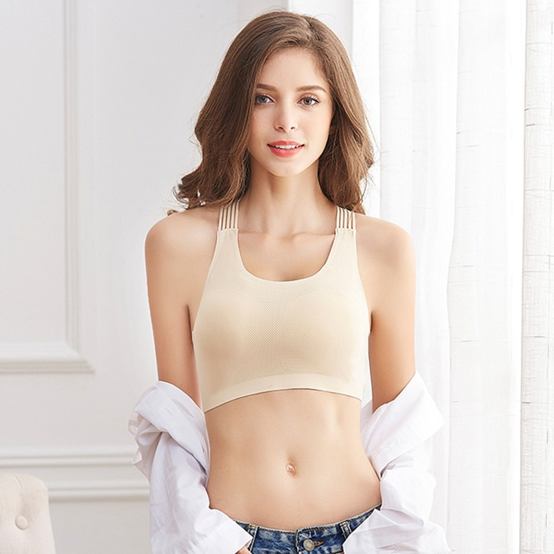 Bras For Women Fashion Beauty Back Crossless Soutien Gorge Femme With Chest Pad Gather Bottoming Strap Sports Sleep Tube Top