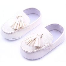 Fashion Baby Toddler Girls Boys Loafers Soft Faux Leather Flat Slip-on Crib Shoes 0-12M(China)