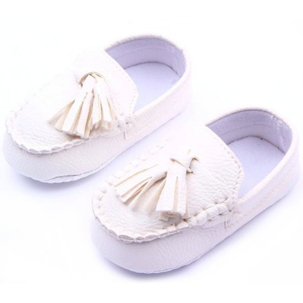 Fashion Baby Toddler Girls Boys Loafers Soft Faux Leather Flat Slip-on Crib Shoes 0-12M