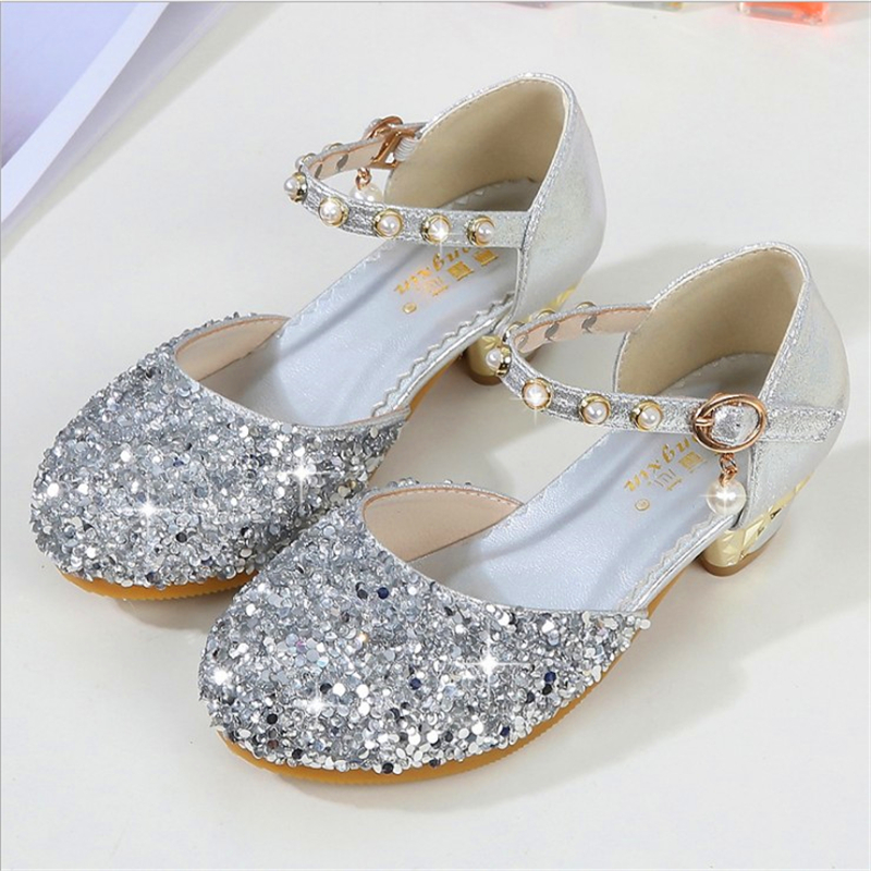 Randolly Toddler Shoes Summer Children Infant Kid Baby Girls Bling Sequins Pearl Princess Shoes Sandals