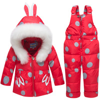 2019 Baby Boys Girls Fashion Down Jacket Suit Children Winter Thickening New Suit Coat+pants Warm Hoodie Baby Girls Clothing Set